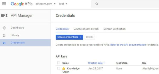Google API Manager