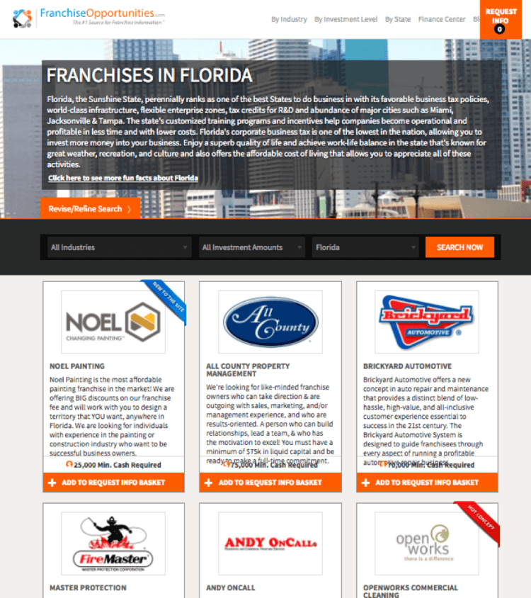 franchise opportunities website