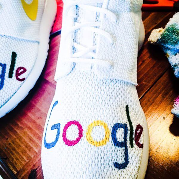 Search in Pics: Google drum set, a deep blue room & Google sneakers