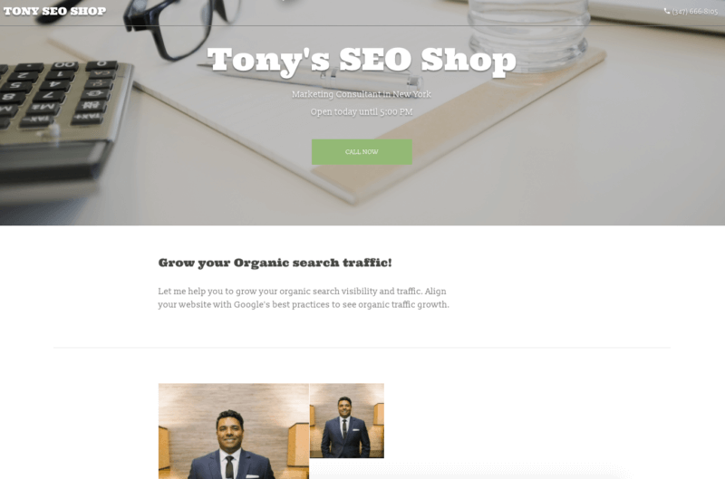 Tony's SEO Shop Website