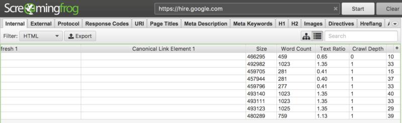 google hire canonicals