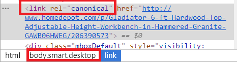 Canonical tag in Body