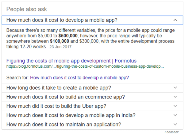 how much does it cost to develop a mobile app