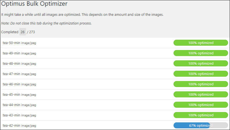 Optimus Image optimizations