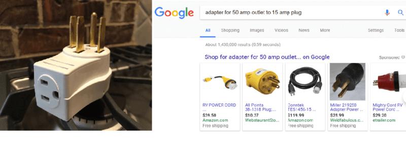 Gas range adapter vs RV plug adapter