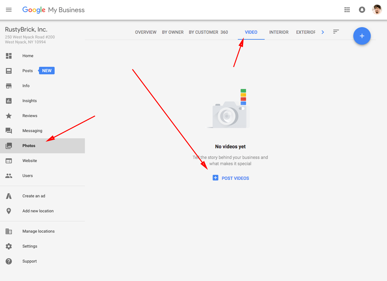 Google My Business video uploads now available to business
