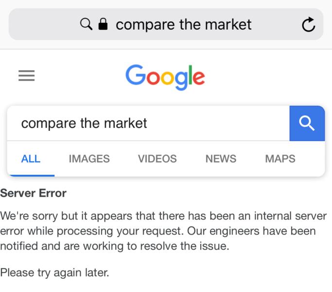 "google-compare-the-market-683x600 You can break Google search by searching for ""compare the market"""