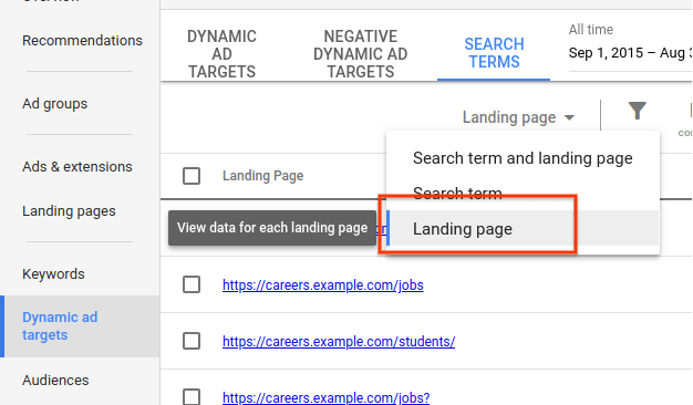 google-dynamic-search-ads-by-url-1 Google now shows dynamic search ad performance aggregated by landing page