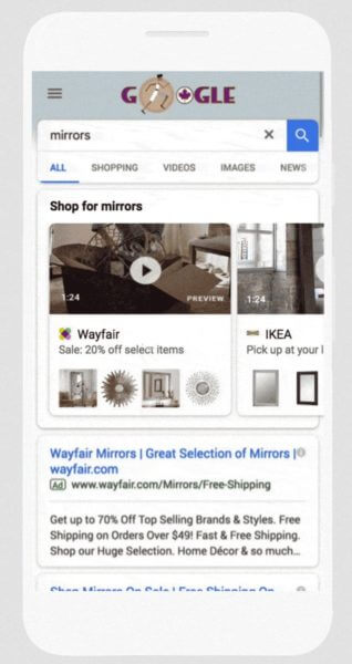google-video-showcase-shopping-ads-318x600 Google debuts Shoppable Image ads, video in Shopping Showcase ads