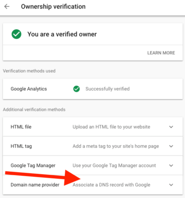 DNS TXT Verification Method