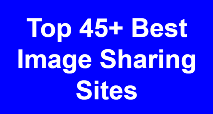 top image sharing sites