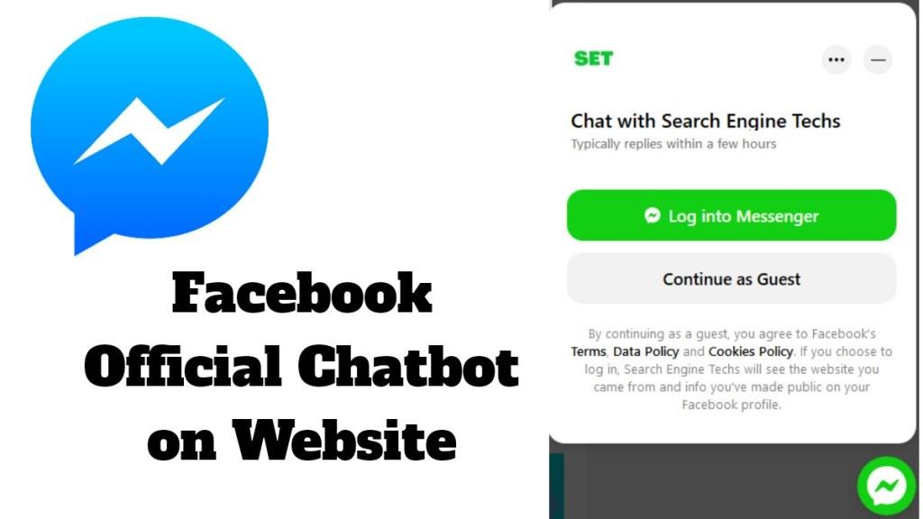 official facebook messenger chatbot on website