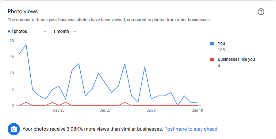 photo views in GMB