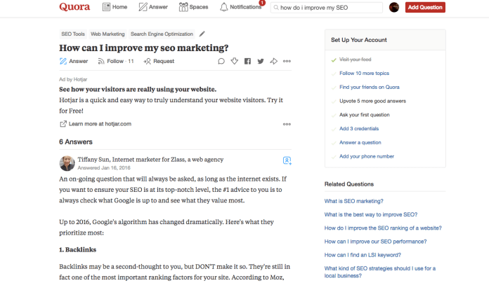 ask quora search