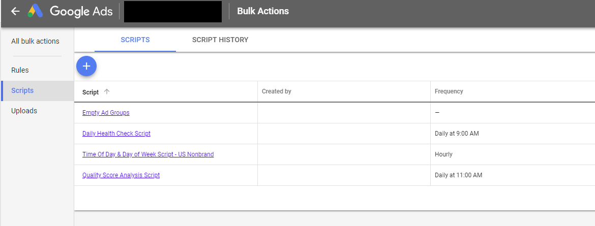 Example of Google Scripts