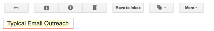 """screenshot of how email outreach goes to """"other"""" mailbox"""