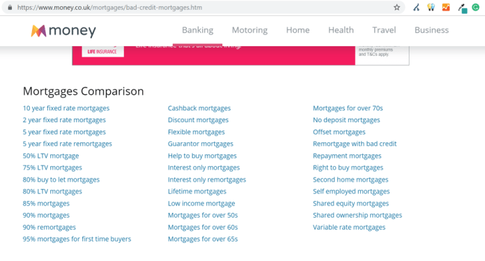 Example of linking to relevant pages for link equity
