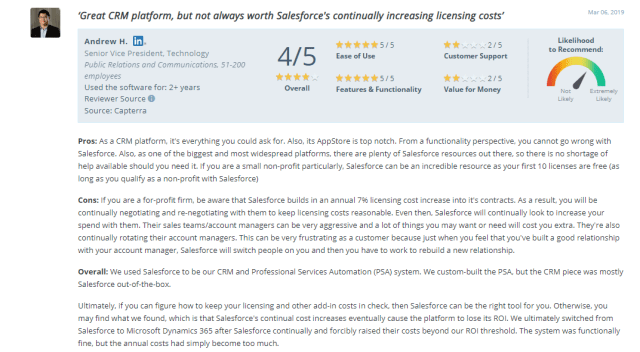 Example of a detailed positive review