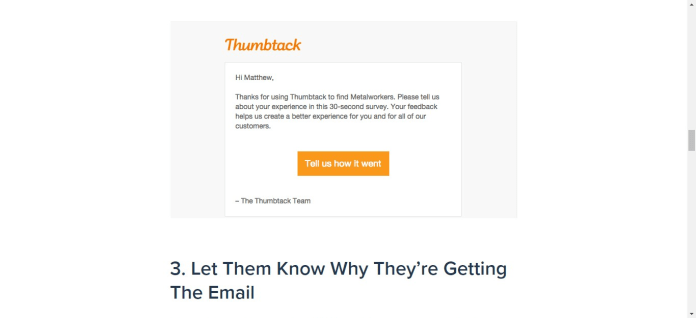 example of how Thumbstack uses power words to convey value to its costumers