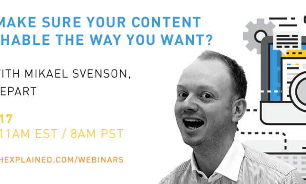 FREE Webinar with Mikael Svenson: How to make sure your content is searchable the way you want