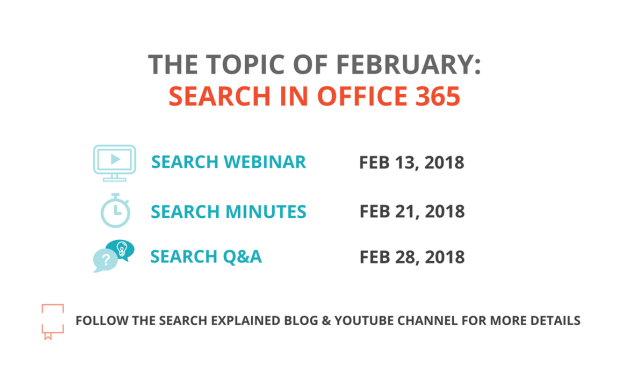 Topic of February – Search in Office 365