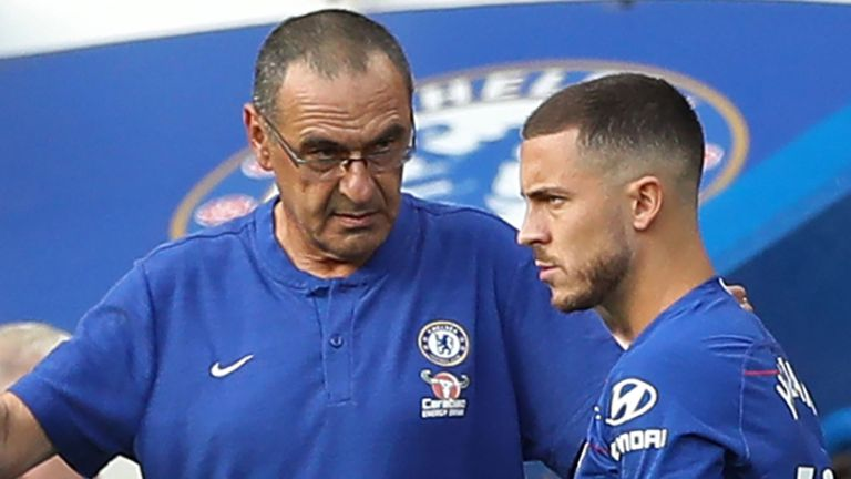 Maurizio Sarri defends benching Hazard in Chelsea Europa League stalemate