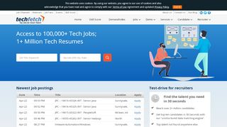 TechFetch.com | Job - Submit Resume, Recruiter - Search Candidate