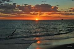 Sunset at Sorrento beach north of Perth