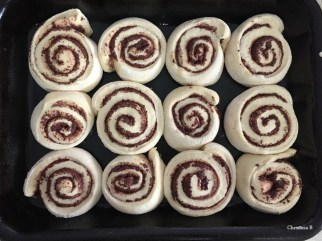 Olive scrolls in the making