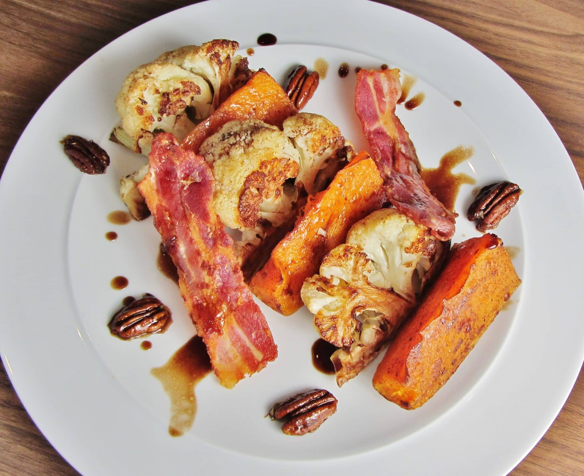 Roast Cauliflower and Butternut Squash Salad with Bacon ...