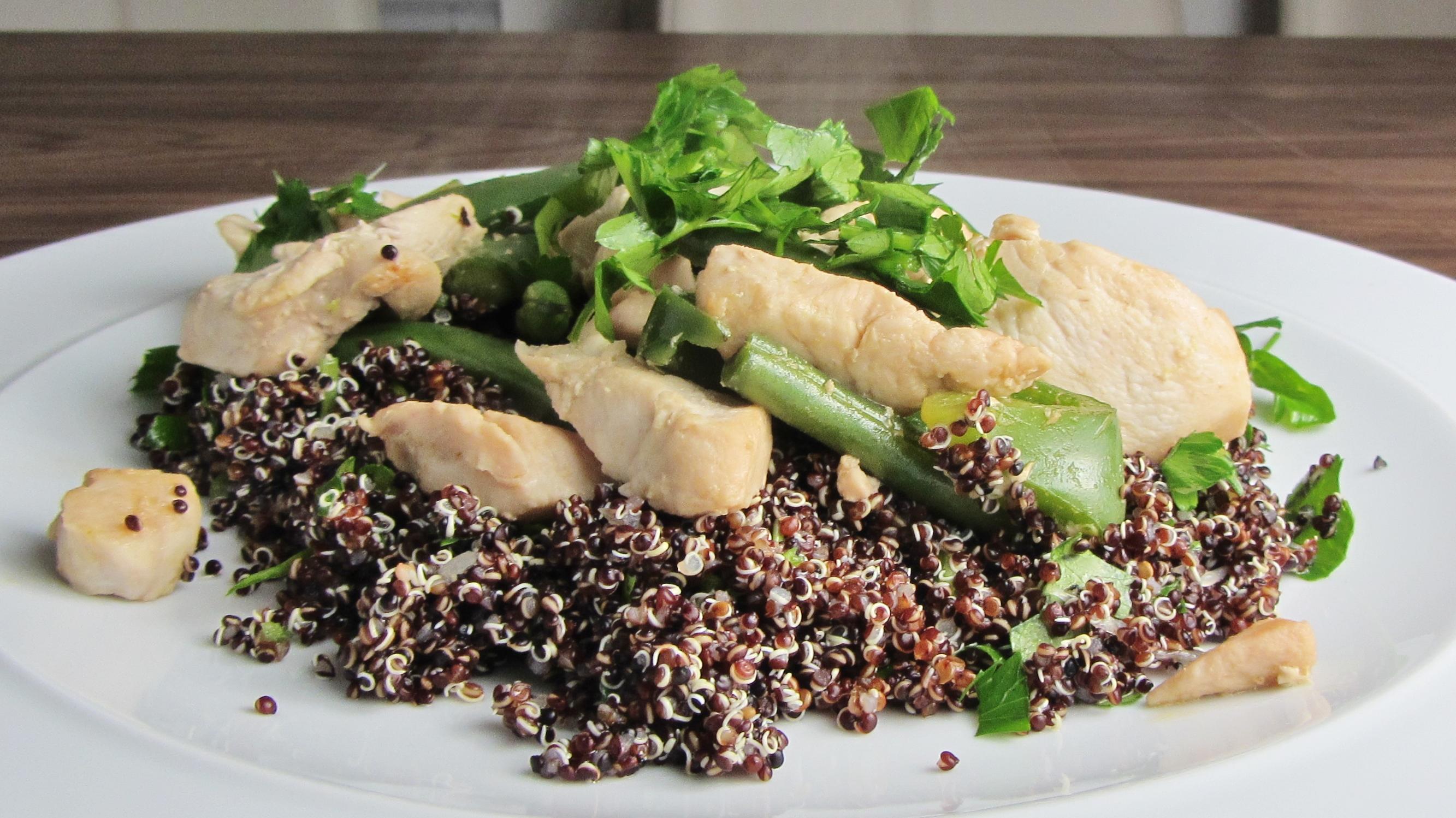 Green Bean + Black Quinoa Salad Recipe — Dishmaps