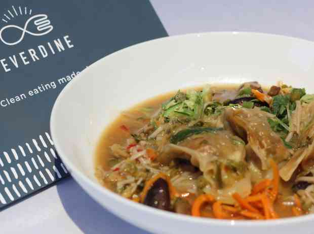 Everdine Review - Vegetable Gyoza with Miso Broth