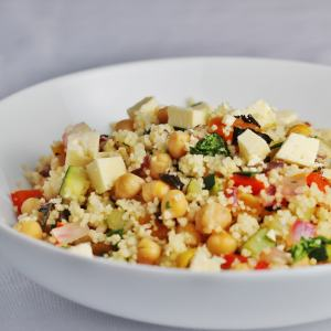 Chickpea and apricot couscous salad #CookOnceEatTwice