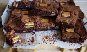 Bahlsen Biscuit Brownies #CookOnceEatTwice