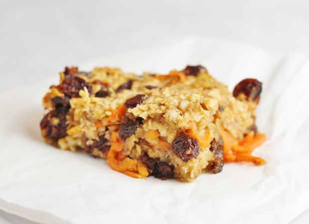 Carrot and banana breakfast bars from Spiralize Every Day