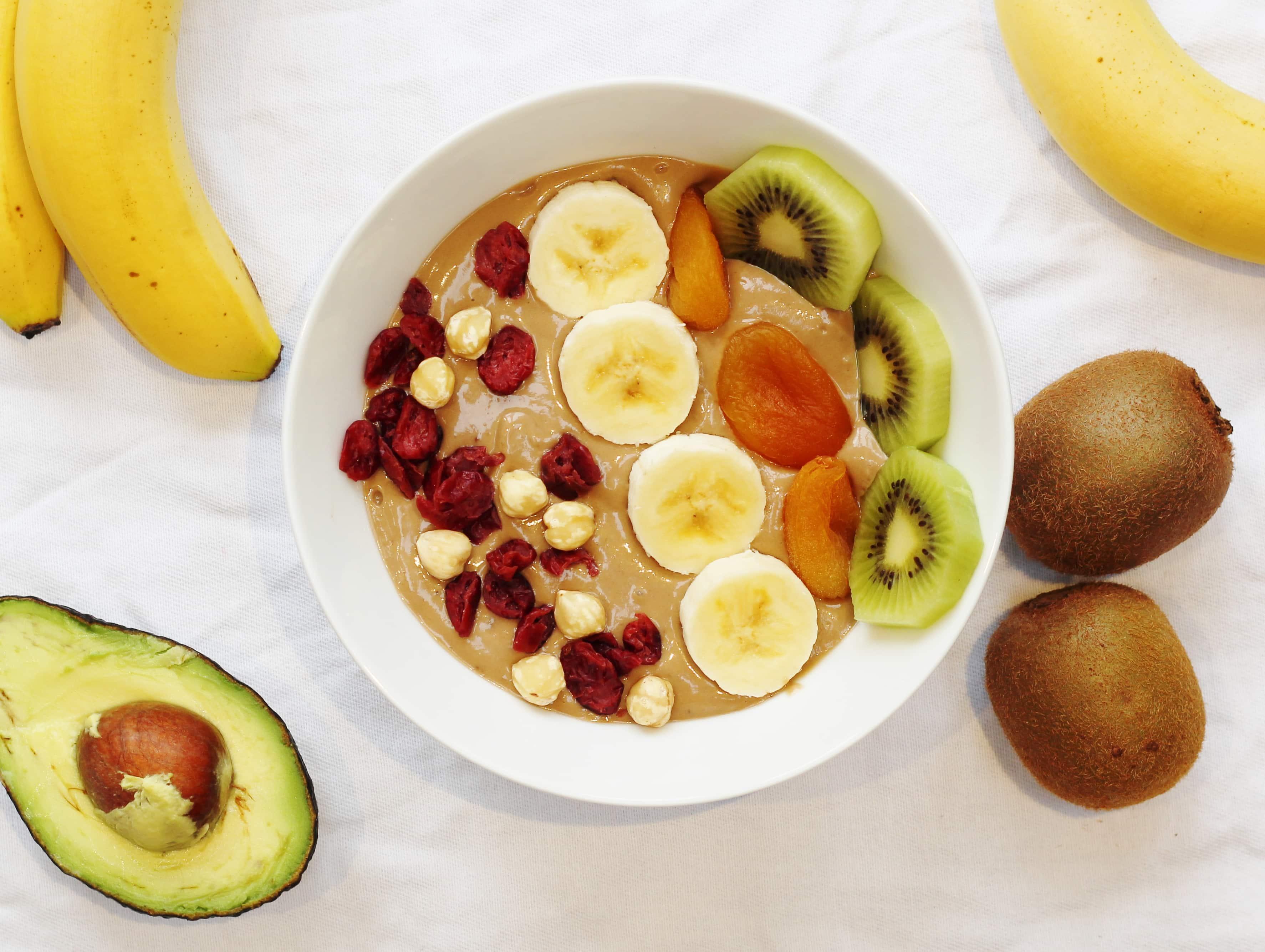 Nutella Banana and Avocado Smoothie Bowl