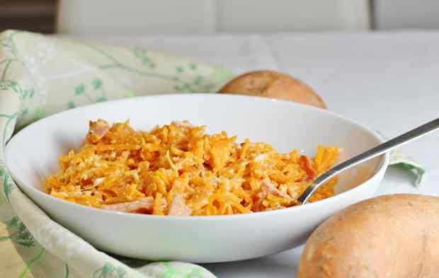 Spiralized Sweet Potato Carbonara from Spiralize Every Day