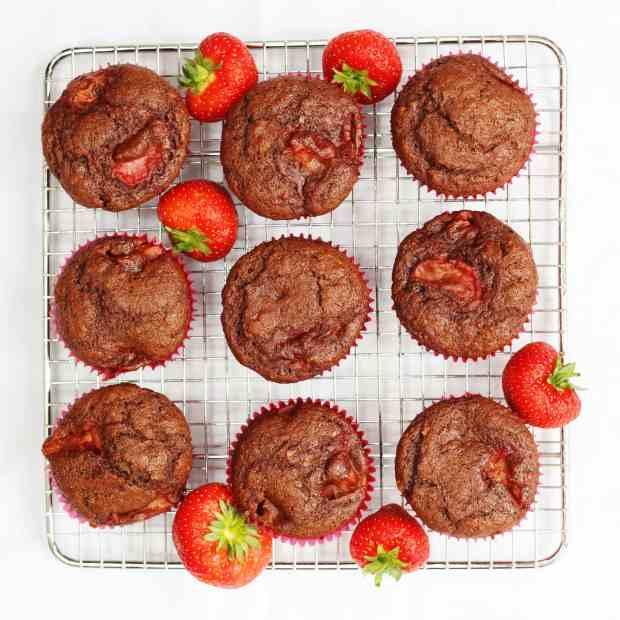 Strawberry banana and chocolate muffins recipe