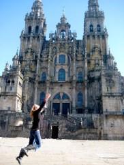 L a Cathedral of Santiago de Compostela, España.