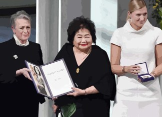 Beatrice Fihn and Hiroshima survivor Setsuko Thurlow