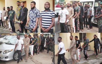 Eight suspected Yahoo boys captured in Lagos