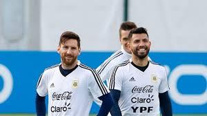 Messi and Aguero In Argentina Copa America Squad.