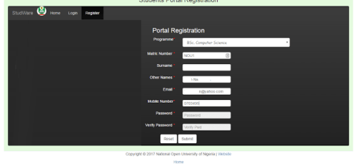 NOUN: Procedure For Registration in Student Portal Login 2019 5