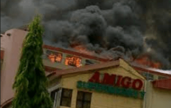 Photos: Amigo Market Fire Outbreak