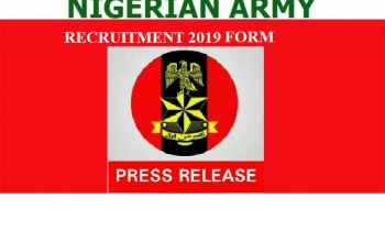 Nigerian Army Recruitment 2019 Commence (DSSC Application)