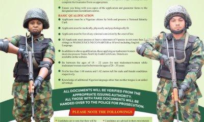 Nigerian Army Recruitment 80rri 2020