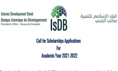 Apply for IsDB Scholarship 2021 Application (Fully Funded) 4