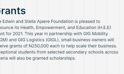 Edwin and Stella Ajaere Foundation Grant for Small Business owners and students (Get up to N250,000)