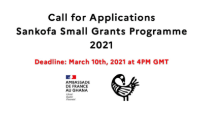 Apply for Sankofa Small Grants Application 2021 for Ghanaians (Receive Up to €8,000)