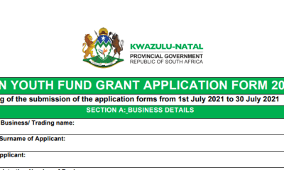 South Africa: Kwazulu Natal Youth Fund Grant Application 2021 (Get up to R2,000,000)
